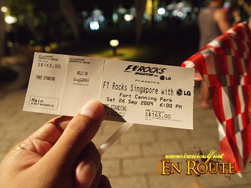 F1 Rocks @ Singapore Tickets