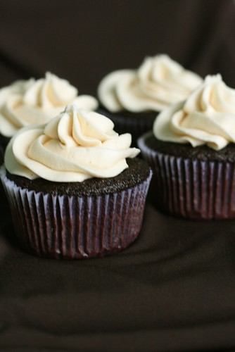 Guinness and Bailey's Irish Cream Cupcakes