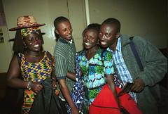 Mac Tontoh Project from Ghana at the Africa Centre London July 2001 051 with Vida Abena Owusua& friends (photographer695) Tags: world africa from 2001 abena music london mac african centre band july jazz ghana vida warriors ashanti kete trumpeter amanas osibisa tontoh owusua nanaeba exosibisa