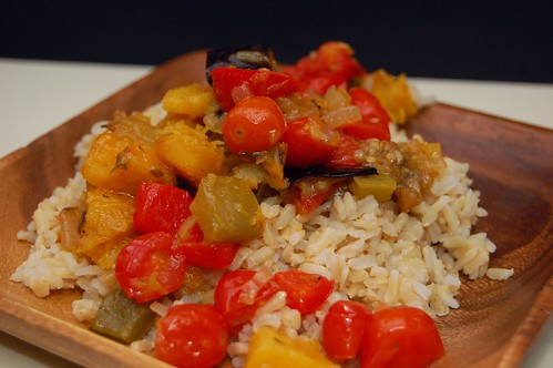 Anti-Zucchini Ratatouille With Rice