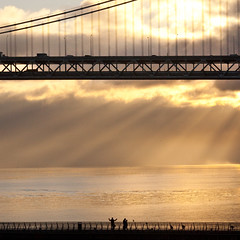 Sunrise on the San Francisco Bay (Thomas Hawk) Tags: sanfrancisco california bridge usa sunrise unitedstates fav50 10 unitedstatesofamerica save3 save7 delete save save2 fav20 save9 save4 baybridge save5 save10 save6 fav30 savedbythedeletemeuncensoredgroup fav10 fav25 fav100 fav40 fav60 fav90 fav80 fav70 superfave