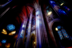 glass, new york city (mudpig) Tags: nyc newyorkcity newyork church john geotagged candle cathedral interior stainedglass divine stjohnthedivine hdr votive saintjohn mudpig stevekelley