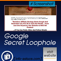 Google Secret Loophole by h_p-gmc