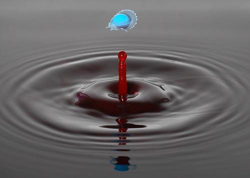 gota en agua