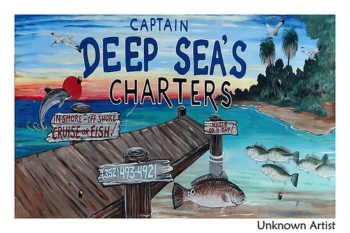 Captain Deep Sea's Charters' Sign
