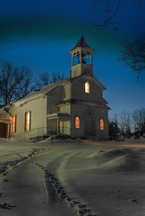 Snowy Trinity Night Portrait (Stephen Little) Tags: winter snow tower church virginia bell belltower steeple methodist hdr churchbell fauquier churchsteeple project365 catlett snowmageddon snowmageddon2010 trinitycatlettunitedmethodistchurch catlettvirginia sonya55 sonyslta55 slta55 sonyslta55v jstephenlittlejr sonyalphaslta55v