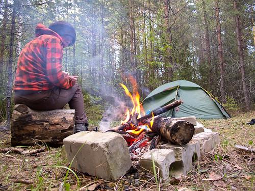 Emma + campfire