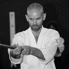 concentration (Matthieu Verhoeven - Photographer -) Tags: portrait white black nikon eric aikido portret alkmaar zwart wit d3 concentratie matthieuverhoevenfotografie