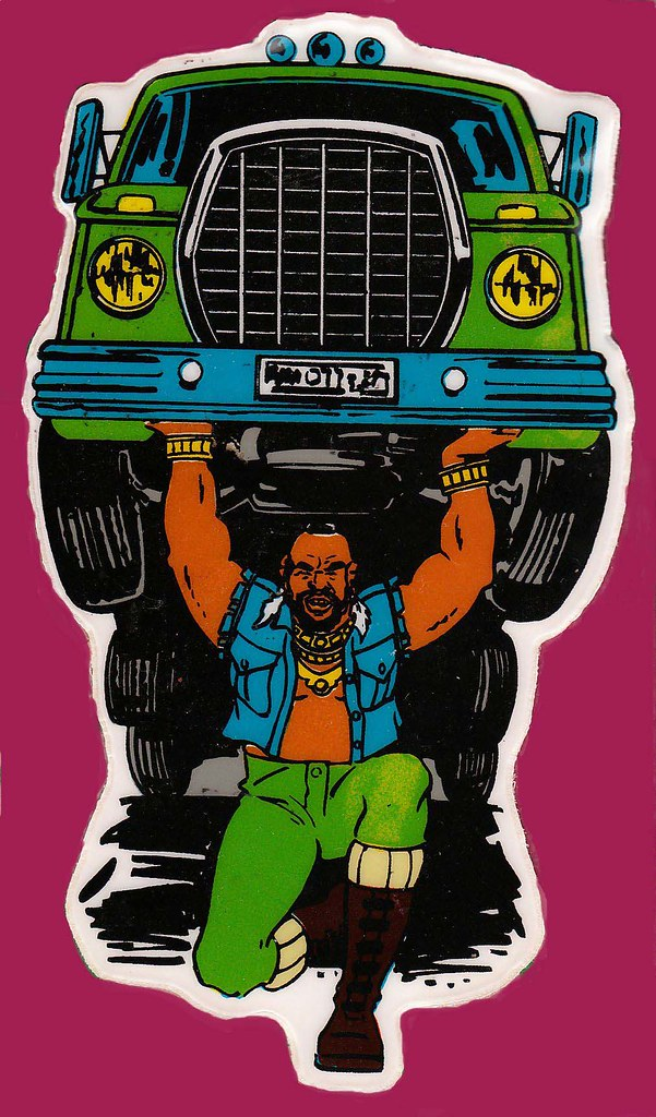 Mr T lifting a semi