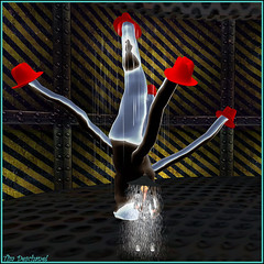 Sous la pluie et sous la pluie ! (Tim Deschanel) Tags: life tree hat rain tim pluie exhibition sl christen exposition chapeau second info arbre deutsche deschanel welt silene