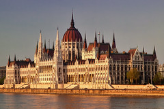 Hungarian Parliament (pantha29) Tags: travel sunset tourism europe hungary budapest parliament olympus zuiko hungarian goldenlight endoftheday e510 1260mm