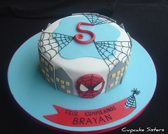 Spiderman (Cupcake Sisters (Senel)) Tags: birthday blue boy red white black cake kids spider spain stuttgart spiderman espana mallorca majorca cumpleanos badenwrttemberg cupcakesisters