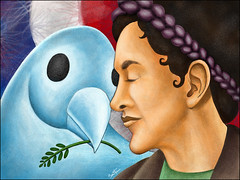 Ingrid Betancourt (Ben Heine) Tags: portrait france bird southamerica rebel freedom media bogota peace dove failure release kidnapping communication libert revolution unitednations violence brave symbols freedomofexpression elections humanrights laurier information success liberation defense oiseau womensrights dmz controversy ransom colombe courage individual paix metaphors hostage popularity otage amnestyinternational simonbolivar farc politicalart couronne colombie ingridbetancourt negotiations individus lgiondhonneur presidentialcampaign nicolassarkozy demilitarizedzone enlvement benheine nobelpeaceprizenominee lvarouribe sanvicentedelcagun droitsdelafemme ranon colombianarmy juanmanuelsantos polmique flickrunited revolutionaryarmedforcesofcolombia anticorruptionactivist operationjaque concordprinceofasturiasaward worldwidecoverage