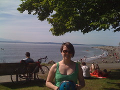at Golden Gardens beach