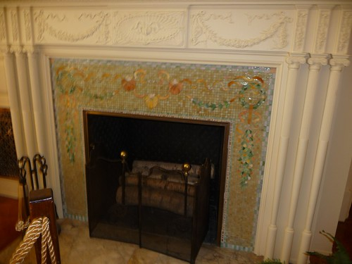 Tiffany Mosaic Fireplace