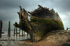 The Wreck of the Hans Egede [Explored] (ryme-intrinseca) Tags: abandoned beach rotting thames boat kent interesting ship fort estuary shipwreck hulk rotten wreck peninsula hoo derelict hdr highdynamicrange fascinating cooling cliffe hansegede photomatix hansedege
