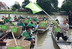 พายเรือสร้างรอยยิ้มให้เจ้าพระยาถึงอยุธยาแล้ว Greenpeace activists canoe to Ayuthaya