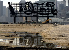 Vintage Pepsi Cola sign Long Island City New York (jackie weisberg) Tags: city nyc newyorkcity urban usa ny newyork reflection skyline architecture vintage buildings reflections puddle unitedstates cities cityscapes pop queens photograph american newyorkstate pepsi soda pepsicola puddles northeast longislandcity nys softdrink urbanlandscape vintagesign thebigapple pepsisign jackieweisberg