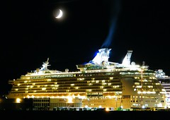 Mariner of the Sea's (Explored) (Brandon Godfrey) Tags: cruise moon night dock ship britishcolumbia explore cruiseship pacificnorthwest northamerica 1001nights victoriabc jamesbay ogdenpoint quartermoon marineroftheseas explored 15stories