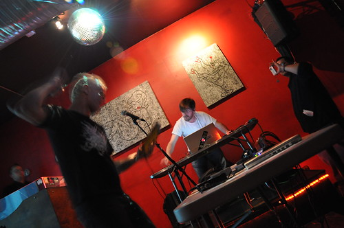 Glomag and I performing at XRAY