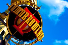 Tomorrowland (SDG-Pictures) Tags: california fun disneyland jets joy disney astro rockets southerncalifornia orangecounty anaheim enjoyment themepark picnik astroorbitor disneylandresort orbitor disneylandpark tomorrowlandentrance takenbystepheng april32009 editedbystepheng themeparktomorrowland