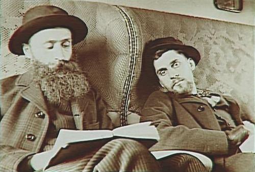 E. Bibesco. Vuillard con Antoine Bibesco en el tren Córdoba-Bobadilla (1901).