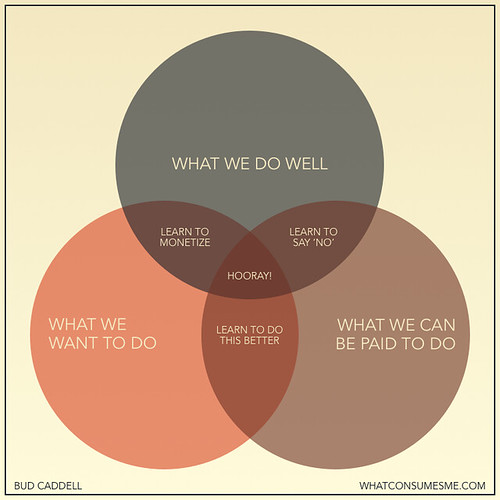 This venn diagram should be all you need to plan what you want to do with your life