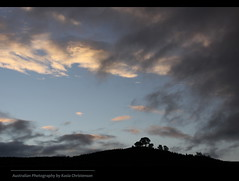 Evening sky (kasia-aus) Tags: trees sky nature silhouette clouds landscape australia canberra 2009 act