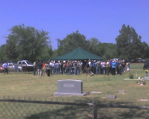 Tommy Fleming's funeral in Franklin, TX
