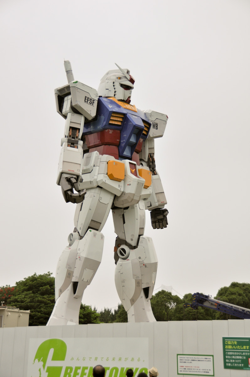 Estatua Gundam tamaño real Tokio