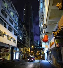 (briyen) Tags: street night clouds hongkong cityscape photos empty hong kong sidewalk flickrchallengegroup flickrchallengewinner