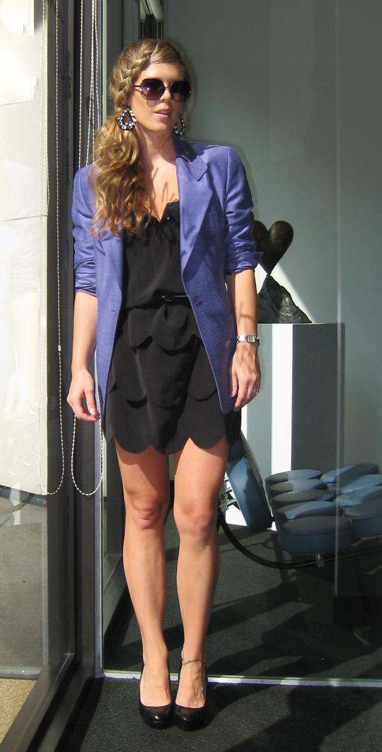 purple-blazer-little-black-dress-braid-3