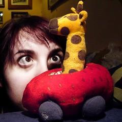 (171/365) Giraffe in a strawberry