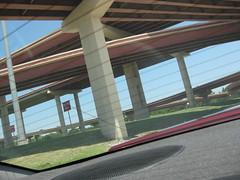Interstate flyovers, Dallas