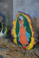 Guila Guadalupe Oaxaca (Ilhuicamina) Tags: rock stone painting mexico catholic saints virgin oaxaca guadalupe picnik piedra guila