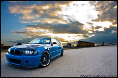 Laguna Seca Blue BMW M3 (jeremycliff) Tags: blue sunset sky orange cliff cloud chicago minnesota yellow canon illinois european euro jeremy german bmw modified laguna custom m3 seca import lbs 40d jeremycliff eurowerks myacreativecom