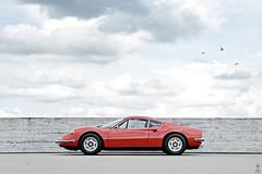 _DSC1790 (romanraetzke) Tags: auto red sky rot car clouds digital 1974 nikon colours dino parking hamburg himmel wolken ferrari flughafen 2008 farbe farben parkhaus d300 parkdeck sportwagen