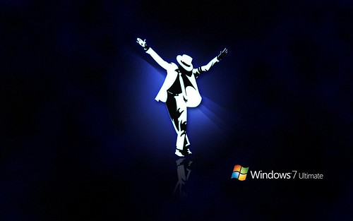 Michael Jackson's Wallpaper on Windows 7 Ultimate background