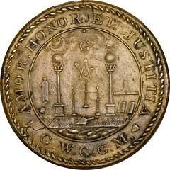 1797 Getz Masonic medal Baker 288 reverse
