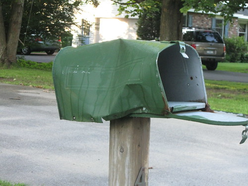 someone bent on destroying our mailbox