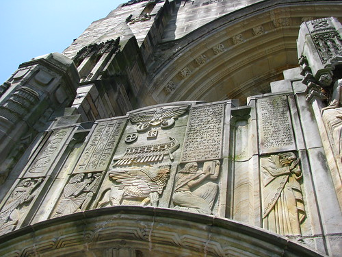 Detail on the front of the library