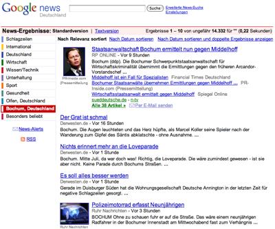 Google News Lokale Nachrichten Bochum