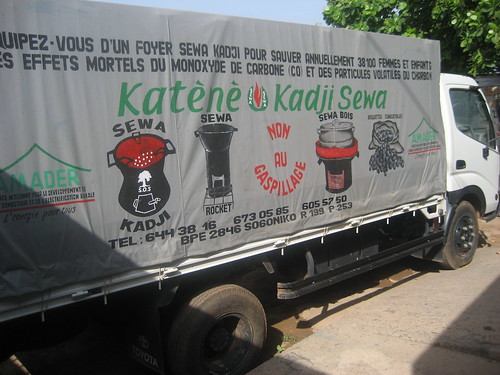 Truck used to transport and promote the stoves