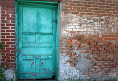 green door (Mark Chandler Photography) Tags: county old color colour brick green rural canon georgia photography photo dallas decay teal photowalk xsi kelby paulding dallasga 450d markchandler