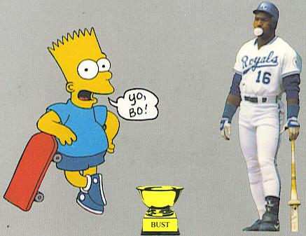 Baseball Card Bust: Bo Jackson, 1991 Bo Knows Bart (Bo Week