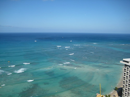 30th floor view of Waikiki Beach