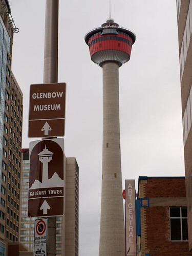 Calgary Tower sign