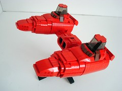Storm IV Twin Pod Cloud Car (Lino M) Tags: city red cloud storm car star pod lego twin wars iv lino empirestrikesback bespin ucs