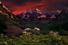 Maroon Bells Sunset (wishiwsthr) Tags: flowers mountains colorado aspen maroonbells maroonlake canon450d wishiwsthr