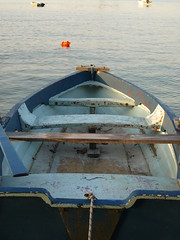 a boat (Lil'_Squid) Tags: sea summer boat chalkidiki blueboat vourvourou   summer2009